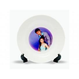 8寸影像盘印图   热转印个性化DIY盘子印图   局部印图定制