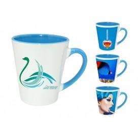 12OZ浅蓝色双彩杯印图   企业logo广告杯数码印花   高端礼品低价定制