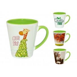 12OZ浅绿色双彩杯印图   企业logo广告杯数码印花   高端礼品低价定制