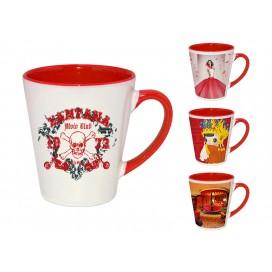 12OZ红色双彩杯印图   企业logo广告杯数码印花   高端礼品低价定制
