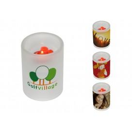 磨砂玻璃烛台logo定制   企业logo热转印印花   个性化DIY印图