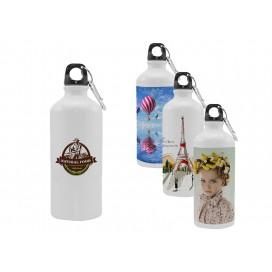 600ML白色铝壶礼品定制   个性化logo商务定制   运动水壶 数码印花