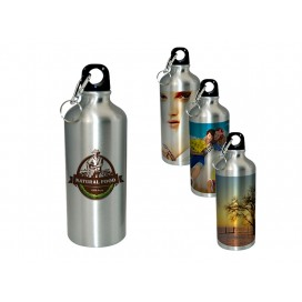600ML银色铝壶礼品定制   个性化logo商务定制   运动水壶 数码印花