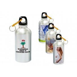 500ML银色铝壶礼品定制   个性化logo商务定制   运动水壶 数码印花