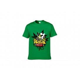 绿色纯棉T恤(167C)(180g)