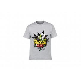 灰色纯棉T恤(295H)(180g)