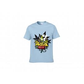 浅蓝纯棉T恤(69C)