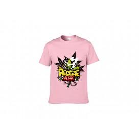 浅粉色纯棉T恤(20C)(180g)XXL码