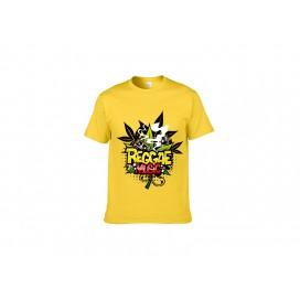 浅黄纯棉T恤(98C)(180g)