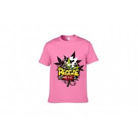 中粉色纯棉T恤(71C)(180g)