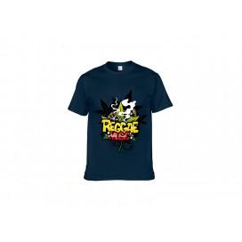 深蓝纯棉T恤(32C)(180g)