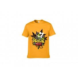 黄色纯棉T恤(24C)(180g)