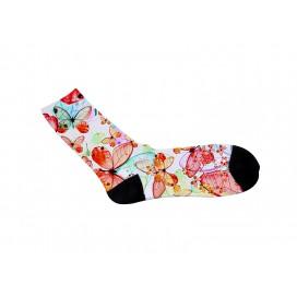 35cm长筒女袜满幅转印   个性化DIY印图   全球代发   工厂直销