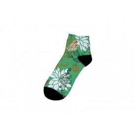 22cm短筒女袜子升华转印   满幅印图   局部logo印图   DIY礼品定制