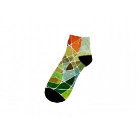 25cm短筒女袜子升华转印   满幅印图   局部logo印图   DIY礼品定制