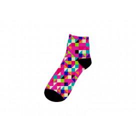 22cm中筒女袜子升华转印   满幅印图   局部logo印图   DIY礼品定制