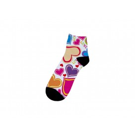 25cm中筒女袜子升华转印   满幅印图   局部logo印图   DIY礼品定制