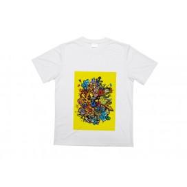 工厂直销运动圆领白色T恤    DIY印图   男士圆领T恤    个性化来图定制